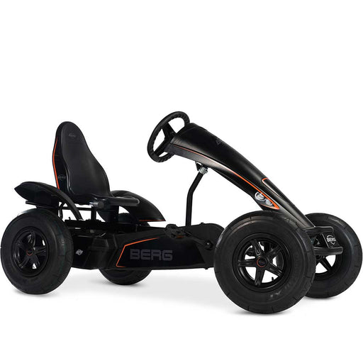 Berg Extra Black Edition Kids & Adults Pedal or 3 Gear Powered Go Kart | Midnight Black