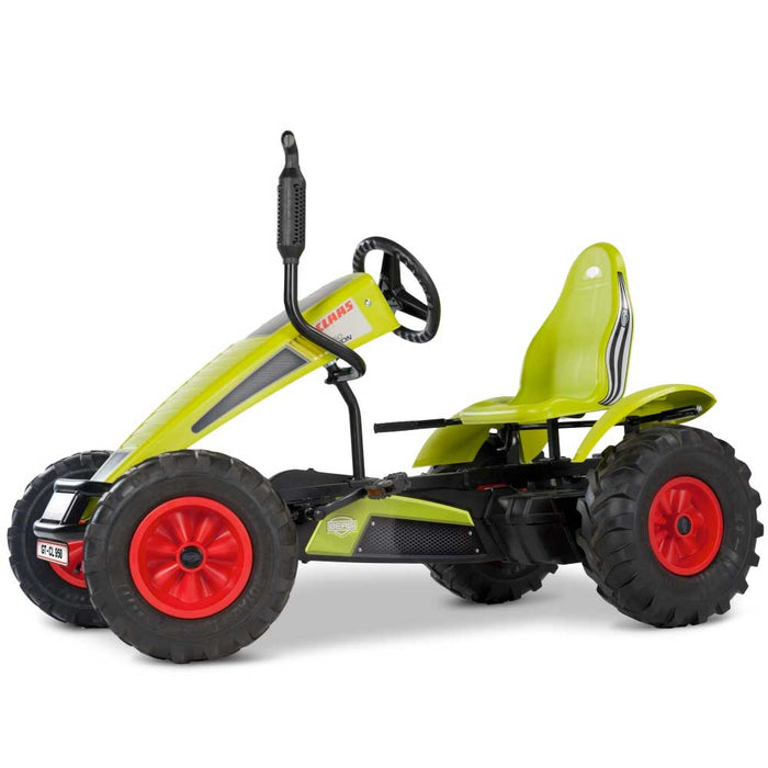 Berg Extra Officially Licensed Claas Harvester Inspired Kids & Adults Pedal or 3 Gear Powered Go Kart | Seed Green