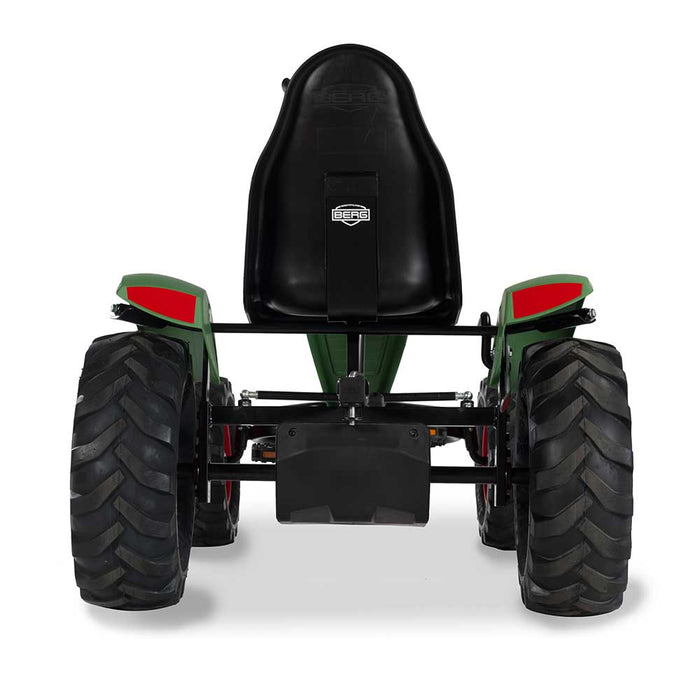 Berg Extra Officially Licensed Fendt Baler Inspired Kids & Adults Pedal or 3 Gear Powered Go Kart | Course Green
