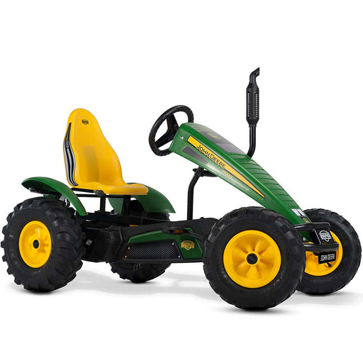 Berg Extra Officially Licensed John Deer Tractor Inspired Kids & Adults Pedal or 3 Gear Powered Go Kart | John Deere Green