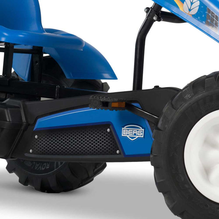 Berg Extra Officially Licensed New Holland Agricultural Machinery Inspired Kids & Adults Pedal or 3 Gear Powered Go Kart | Trademark Light Blue