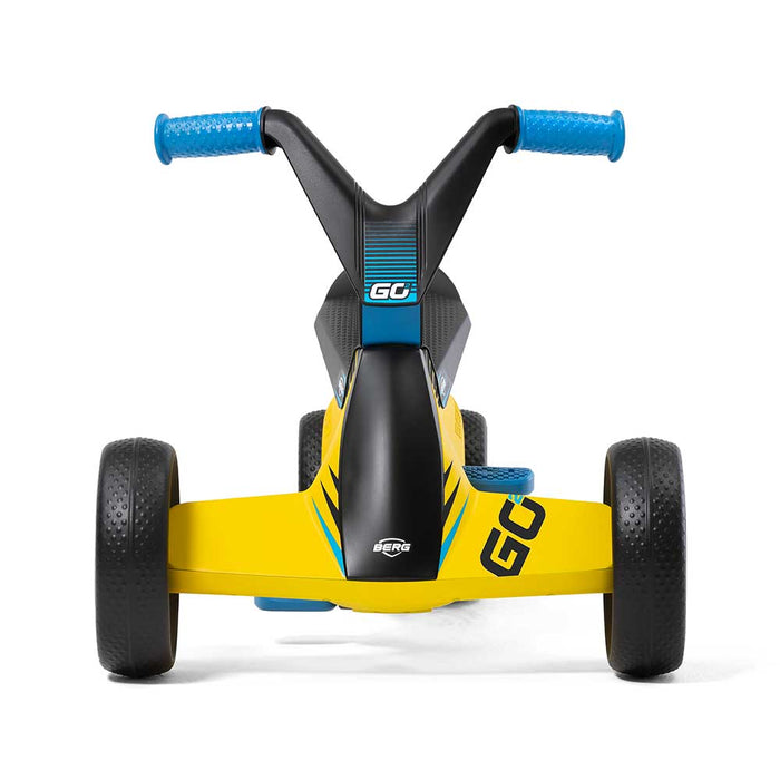 Berg Go2 Kids Push & Pedal Powered Go Kart | SparX Yellow