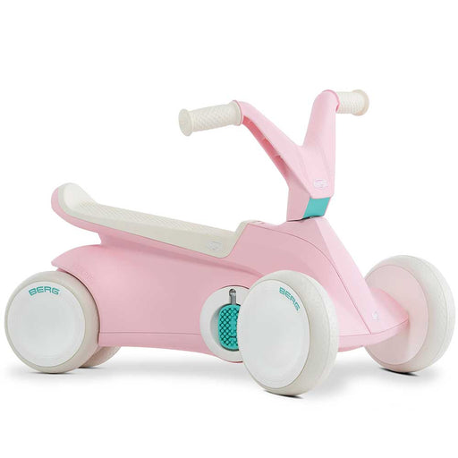 Berg Go2 Kids Push & Pedal Powered Go Kart | Baby Pink