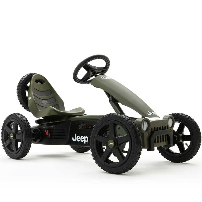 Berg Rally Officially Licensed JEEP Sahara Kids Pedal Powered Go Kart | Willys Green