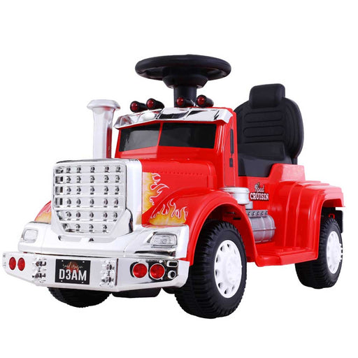 Big Rig Truck Deluxe Kids Ride On Car Red