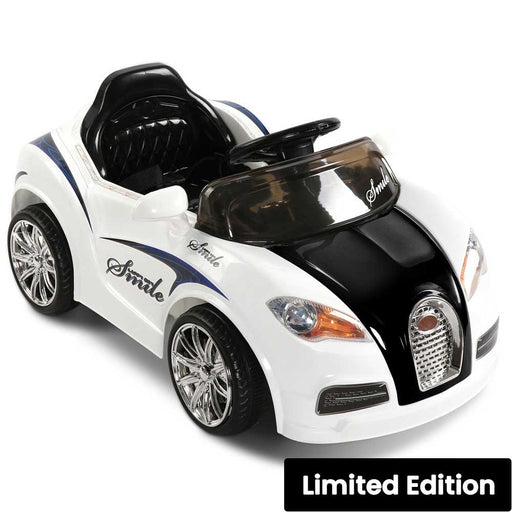 Bugatti Inspired Kids Ride On Car with Remote Control White Black