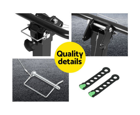 "4 Bicycle Car Rear Rack Hitch Mount 2"" Towbar Foldable Steel Bike Rack 