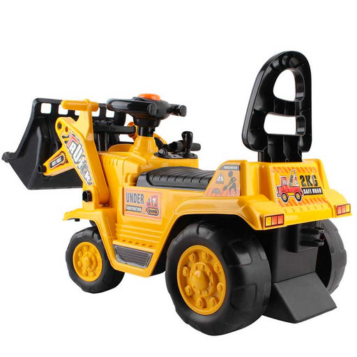 Construction Inspired Kids Ride On Car Bulldozer Yellow