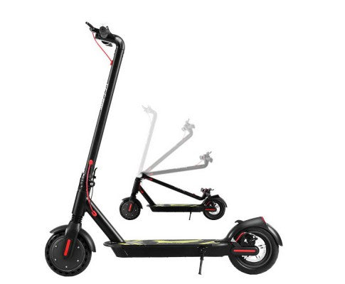 Delxue Portable & Foldable Electric Commuter Scooter | Black