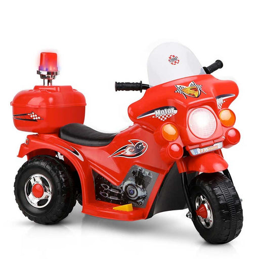 Fire Fighter Inspired Kids Ride On Motorcycle Red