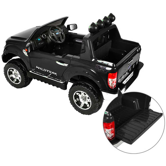 Ford Licensed F150 Ranger Deluxe Kids Ride On Car with Remote Control | Black
