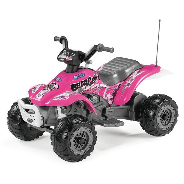 Peg Perego Bearcat Kids Ride On Quad Motorcycle | Pink