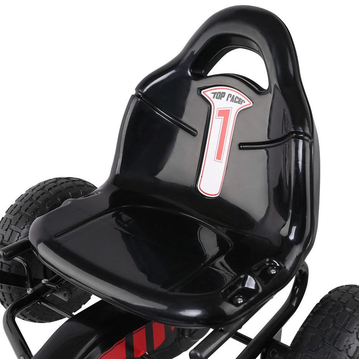 Mighty Racer Kids Pedal Powered Go Kart | Black (Limited Edition)