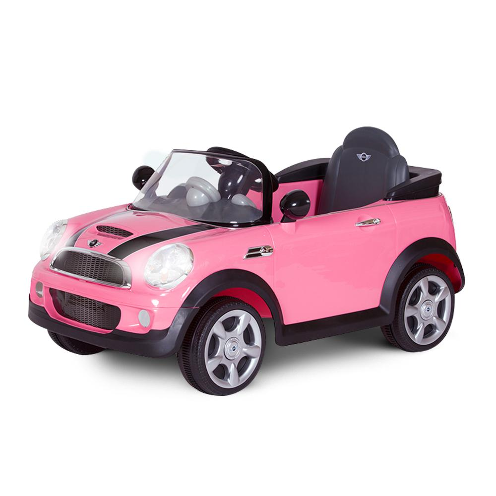 MINI Cooper S Licensed Kids Ride On Car with Remote Control | Pink