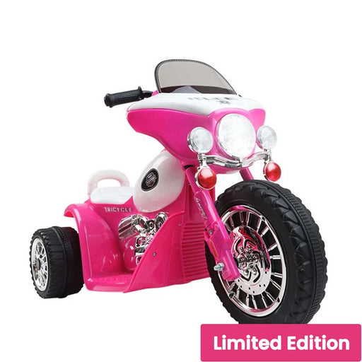 Harley Davidson Inspired Kids Ride On Motorbike Motorcycle Pink