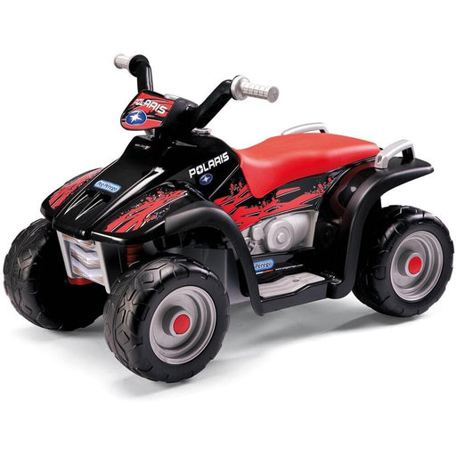 Peg Perego Sportsman Kids Ride On Quad Motorcycle | Red/Black