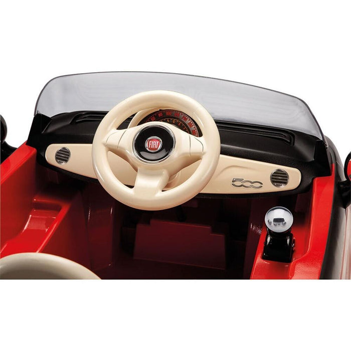 Peg Perego Officially Licensed Fiat 500 Kids Ride On Car | Red/Grey
