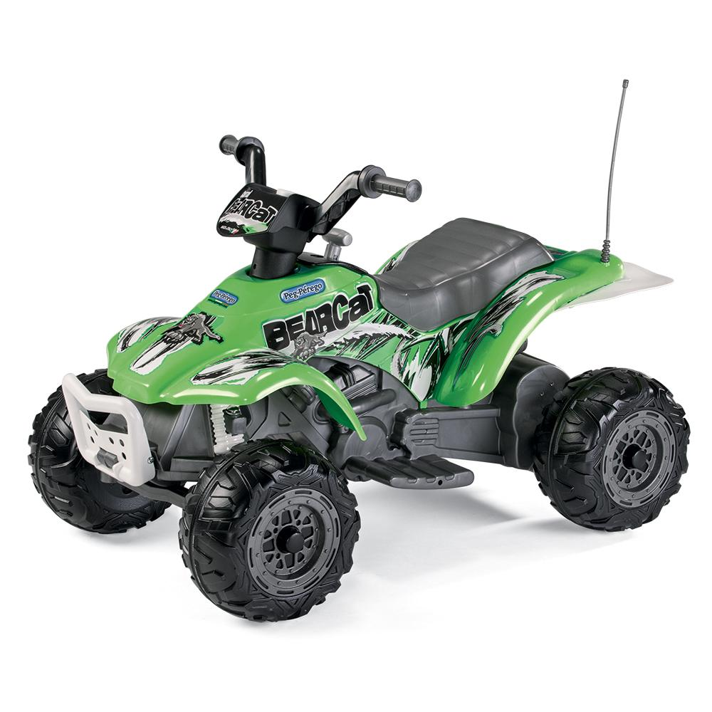 Peg Perego Bearcat Kids Ride On Quad Motorcycle | Forest Green