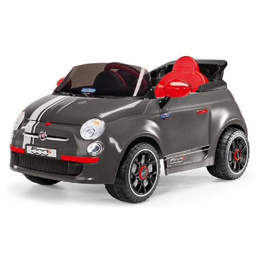 Peg Perego Officially Licensed Fiat 500 S Kids Ride On Car | Grey (Limited Edition)