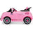 Peg Perego Officially Licensed Fiat 500 Star Kids Ride On Car | Pink (Limited Edition)