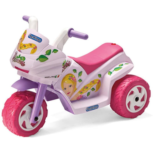 Peg Perego Mini Princess Kids Ride On Motorcycle | Purpley Pinkish
