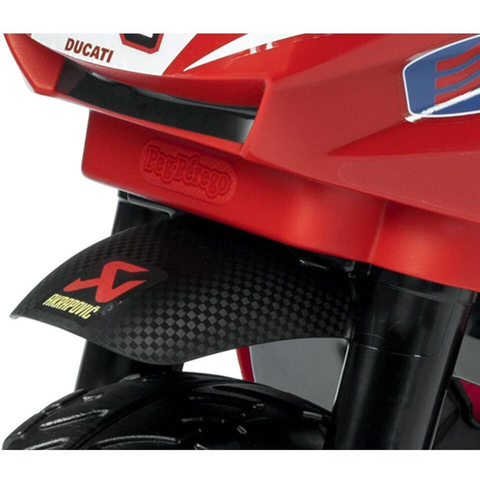 Peg Perego Mini Ducati Kids Ride On Motorcycle | Racing Red