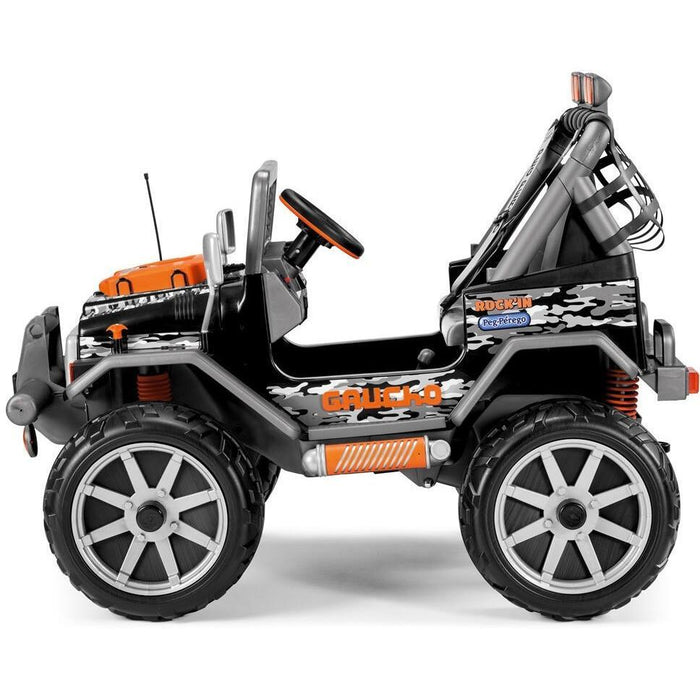 Peg Perego Gaucho Rock'in Two Seater Off Road Kids Ride On Car | Orange/Black