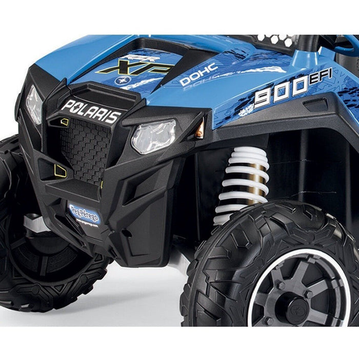 Peg Perego Officially Licensed Polaris Ranger Two Seater Off Road Kids Ride On Car | Blue/Black