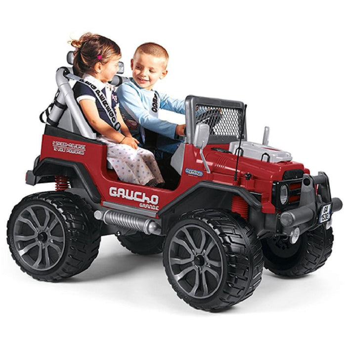 Peg Perego Gaucho Grande Two Seater Off Road Kids Ride On Car | Red/Grey