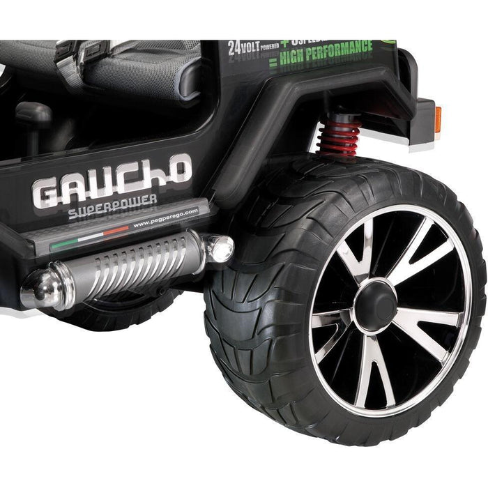 Peg Perego Gaucho Superpower Two Seater Off Road Kids Ride On Car | Black