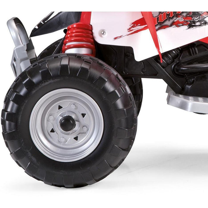 Peg Perego Outlaw Kids Ride On Quad Motorcycle | Red