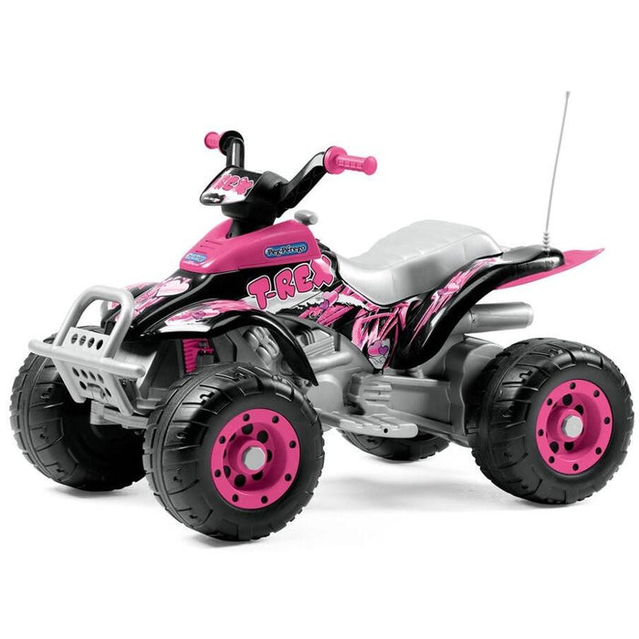 Peg Perego T-Rex Kids Ride On Quad Motorcycle | Pink
