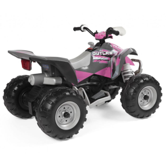 Peg Perego Outlaw Kids Ride On Quad Motorcycle | Pink