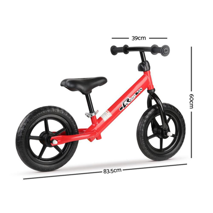 Track Star 12 Inch Kids Balance Bike | Fire Engine Red