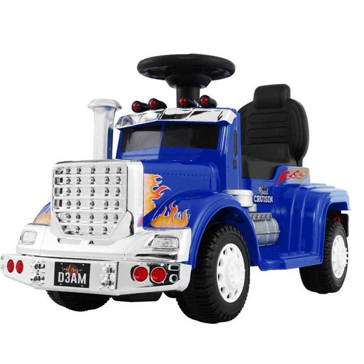 Big Rig Truck Deluxe Kids Ride On Car | Blue