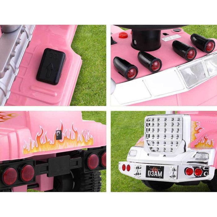 Big Rig Truck Deluxe Kids Ride On Car | Pink
