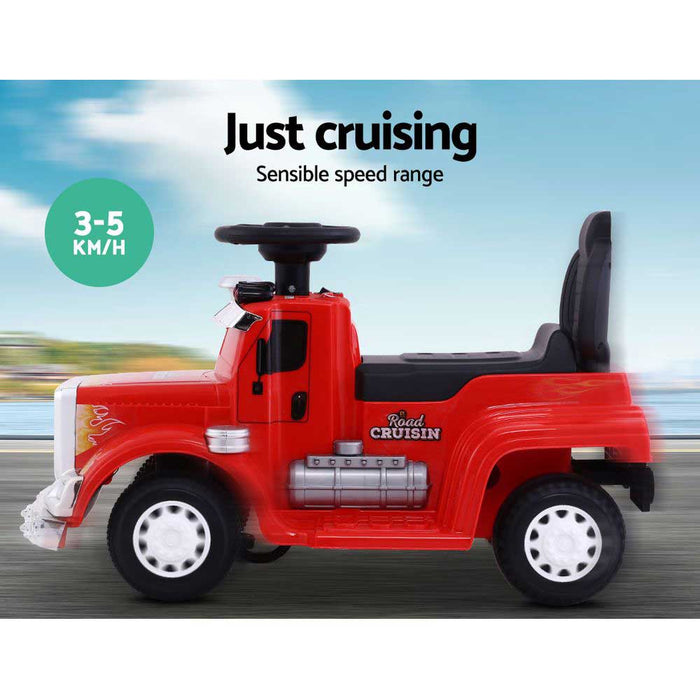 Big Rig Truck Deluxe Kids Ride On Car | Red