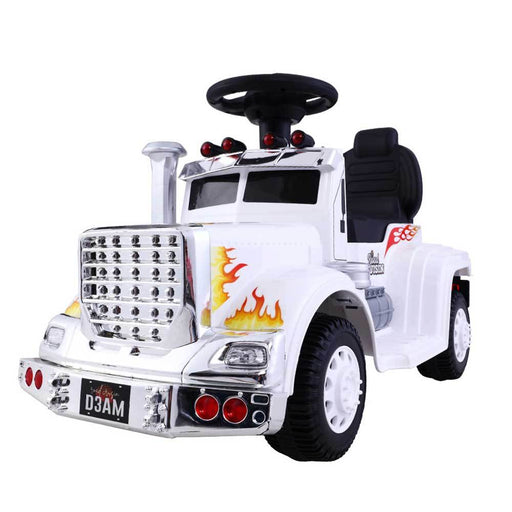Big Rig Truck Deluxe Kids Ride On Car | White