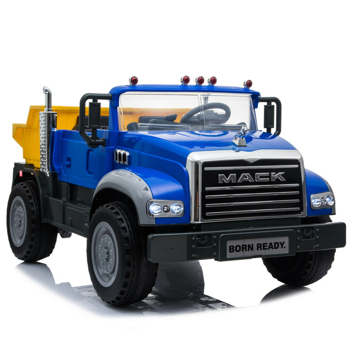 MACK Truck Officially Licensed Kids Ride On Electric Car | Blue/Yellow