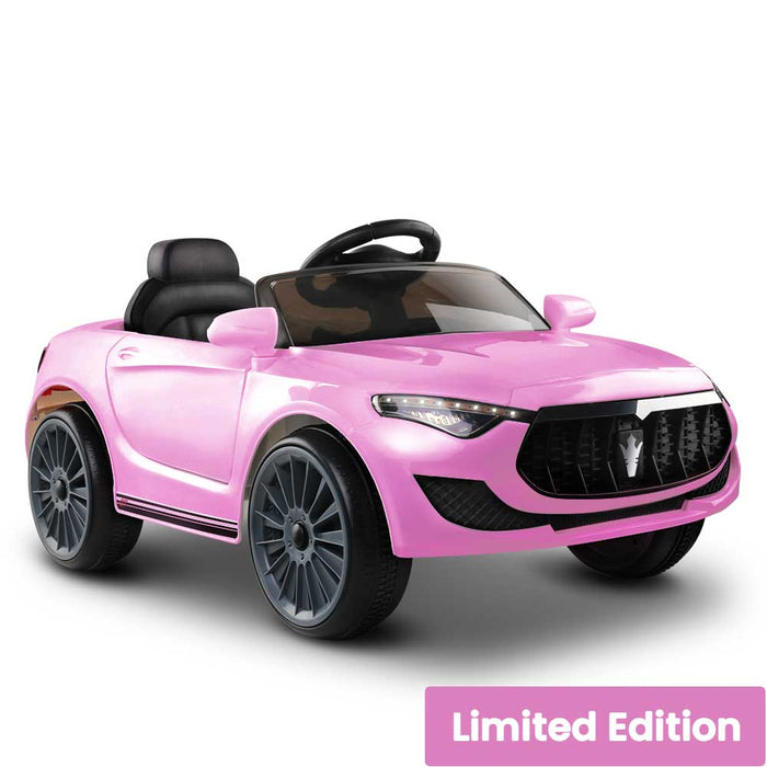 Maserati Inspired Kids Ride On Car with Remote Control Pink