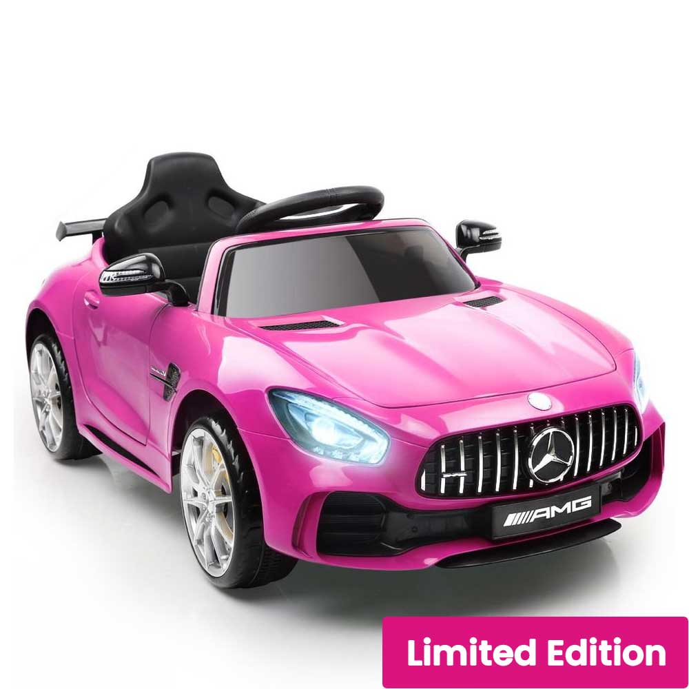 Mercedes Benz AMG GT R Licensed Kids Ride On Car with Remote Control Candy Pink
