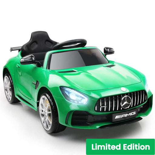 Mercedes Benz AMG GT R Licensed Kids Ride On Car with Remote Control Green