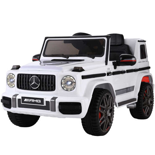Mercedes Benz G63 AMG Licensed Kids Ride On Car with Remote Control Black and White