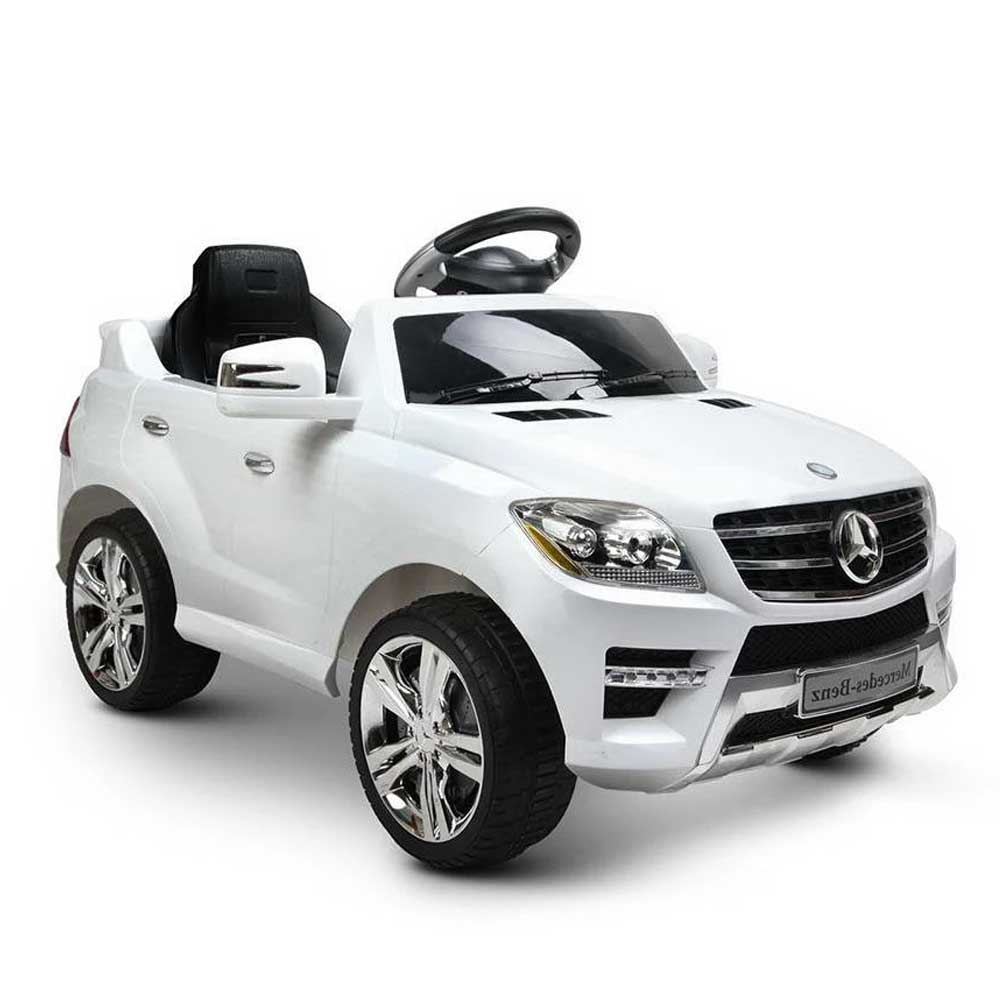 Mercedes Benz ML-350 Licensed Kids Ride On Car with Remote Control White