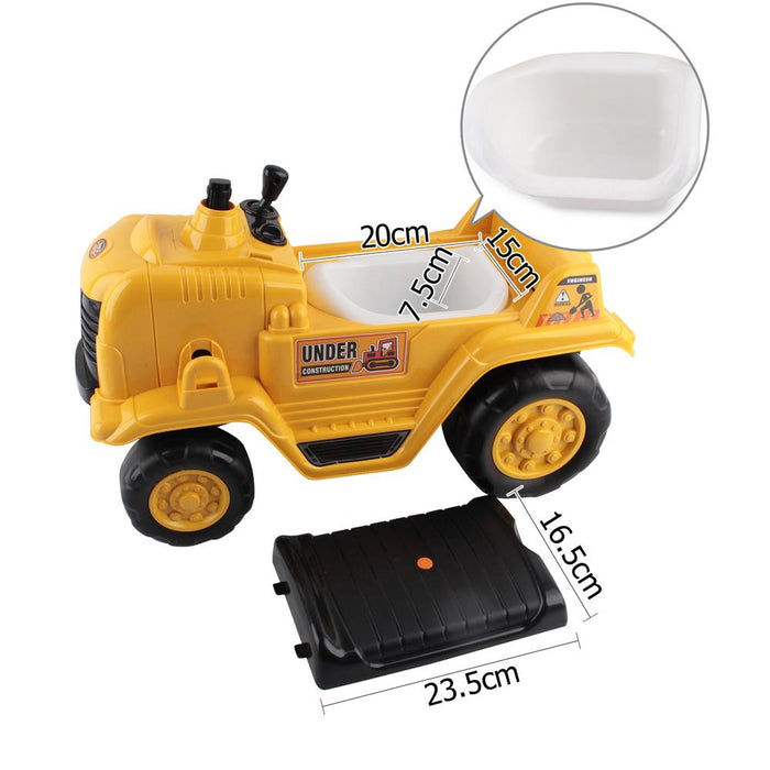 Construction Inspired Kids Ride On Car Bulldozer  | Yellow