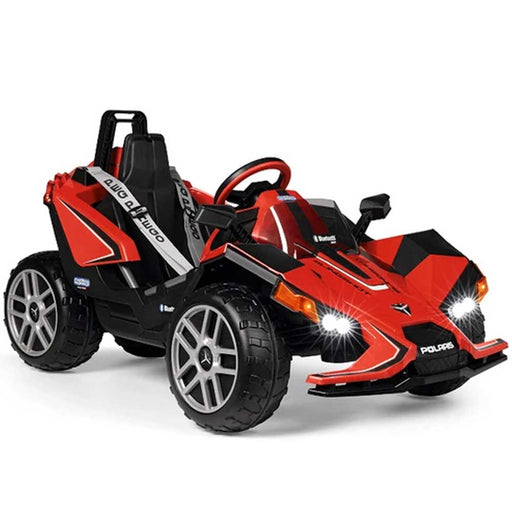 Peg Perego Officially Licensed Polaris Slingshot Kids Ride On Car | Red/Black
