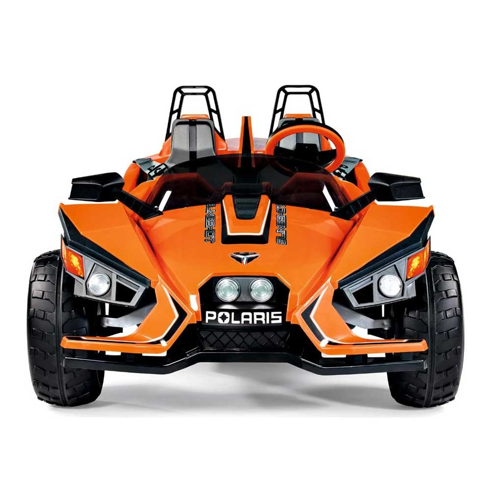 Peg Perego Officially Licensed Polaris Slingshot Two Seater Kids Ride On Car | Orange/Black