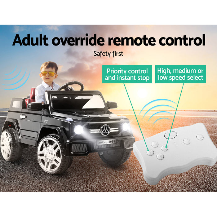 Mercedes Benz G50 Inspired Kids Ride On Car with Remote Control | Black