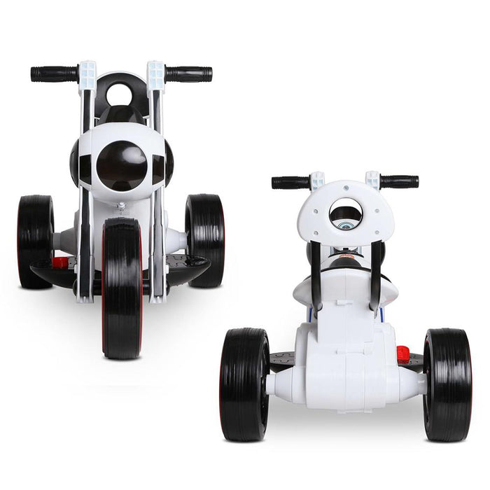 Baymax Movie Inspired Kids Ride On Motorcycle  | White & Black