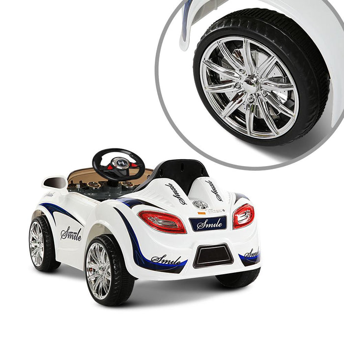 Bugatti Inspired Kids Ride On Car with Remote Control | White/Black (Limited Edition)